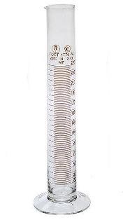 Цилиндр мерный 1-100-2 с носиком, на стеклянном основании