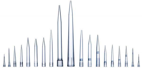 Наконечники Sartorius стерильные без фильтра, 0,5-200 мкл, 51 мм, в штативе 96 штук