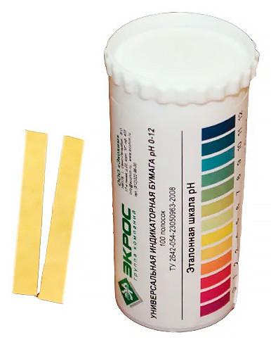 Индикаторная бумага универсальная pH 0-12 тубус
