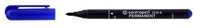 Маркер перманентный (стеклограф), синий 1 мм