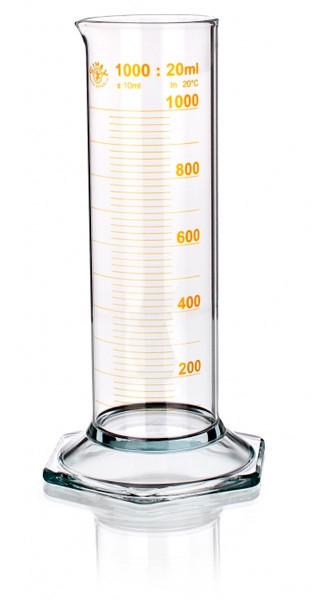 Цилиндр низкий 2000 мл, 2 класс точности, желтая градуировка