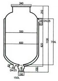 Лабораторный реактор Kori SF, 150 литров