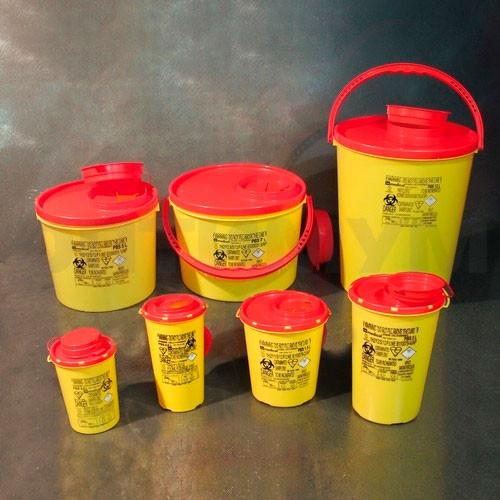 Контейнер для переноса отходов со знаком биологической опасности, 7 литров