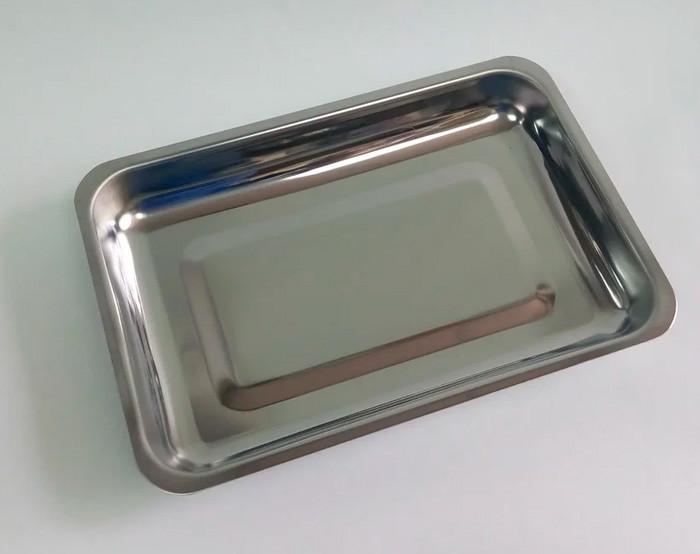 Лоток прямоугольный, 260х180х30 мм, нержавеющая сталь