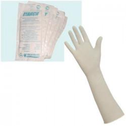 Перчатки хирургические «Макси» с крагой, размер М, 50 пар