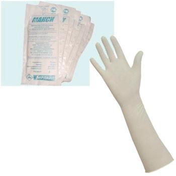 Перчатки хирургические «Макси» с крагой, размер L, 50 пар