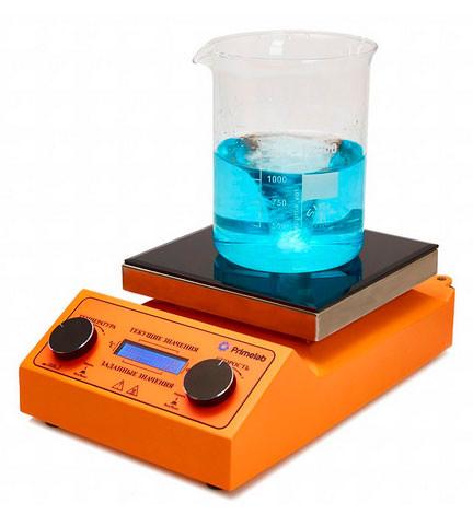 Программируемая мешалка с подогревом Primelab PL-R-steps-H, 10 литров