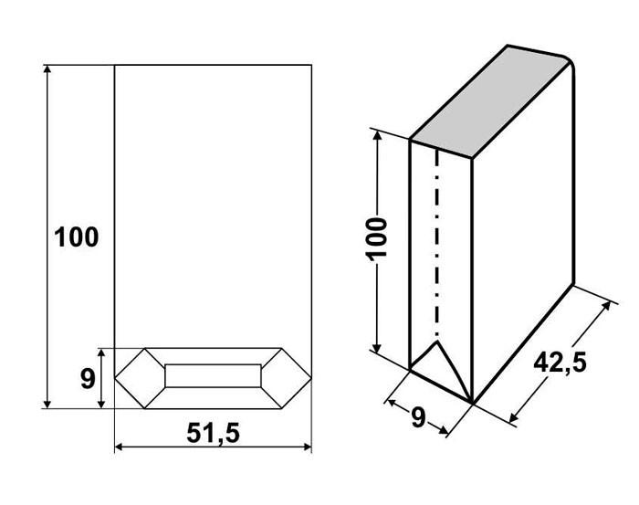 Мешки бумажные открытые 100х51,5х9, 4-слойные