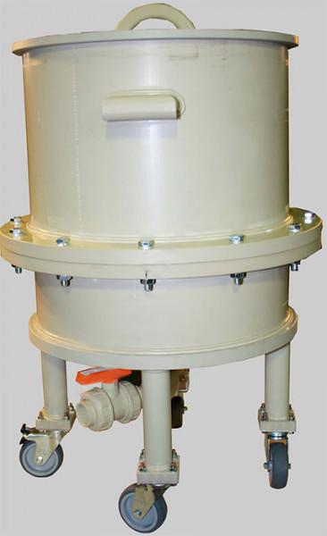 Нутч-фильтр НФП-0,1-400 ПП с колесами