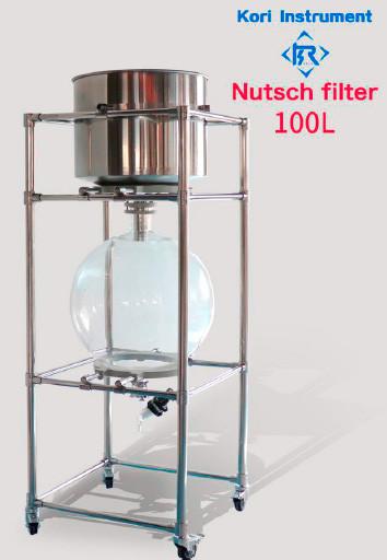 Вакуумный стеклянный нутч-фильтр ZF-100L (сталь SS 316)