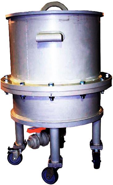 Нутч-фильтр НФП-0,15-500 ПП НС с колесами, материал 03Х17Н14М2