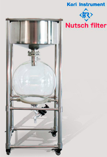 Вакуумный стеклянный нутч-фильтр ZF-30L (сталь SS 304)