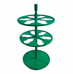 Штатив ПЭ-2920 для 6-ти цилиндрических воронок объемом 100 мл