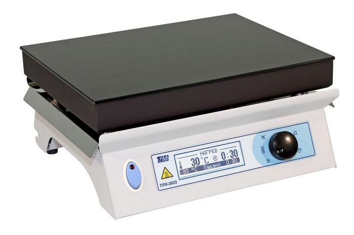 Плита нагревательная лабораторная со стеклокерамической поверхностью ПЛК-2822
