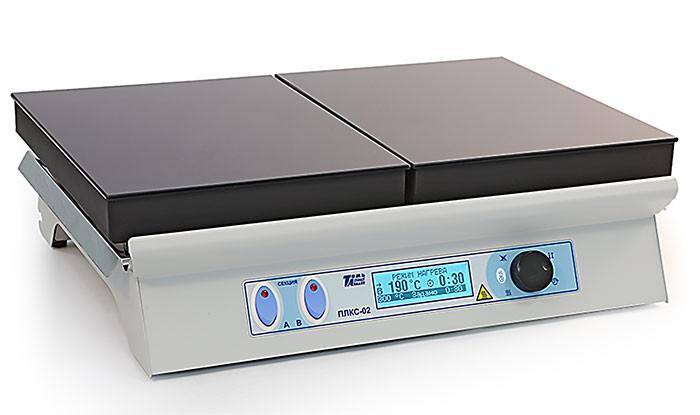 Плита нагревательная лабораторная секционная со стеклокерамической поверхностью ПЛКС-02