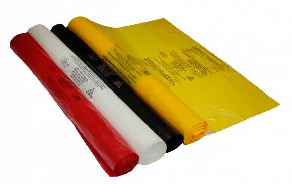 Пакет для мед. отходов, 330х600, 15 литров, желтый, Б