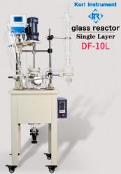Однослойный стеклянный реактор Kori DF-10L, с ванной