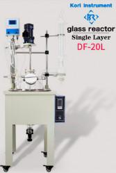 Однослойный стеклянный реактор Kori DF-20L, с ванной