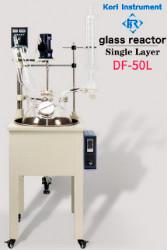 Однослойный стеклянный реактор Kori DF-50L, с ванной