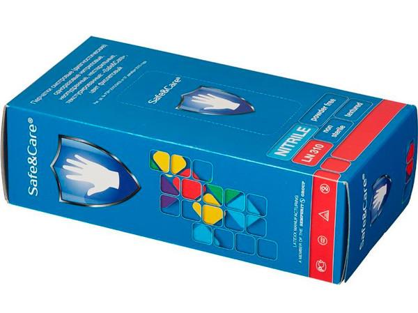 Перчатки нитриловые Safe&Care XL (9 и более) эластичные фиолетовые нестер., неопудр., 90 пар