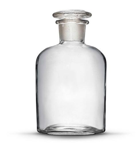 Склянка для реактивов на 1000 мл из светлого стекла с узкой горловиной и притертой пробкой