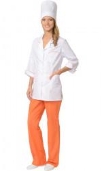 Костюм медицинский женский «Жасмин» (куртка, брюки, колпак), размер 48-50, рост 170