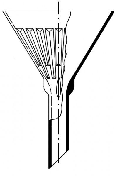 Воронка рифленая, 160 мм