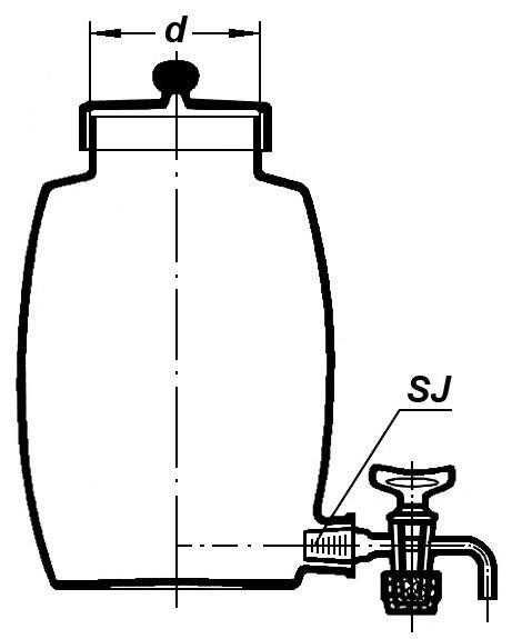 Ирригатор бочкообразный, с краном и крышкой, 5000 мл