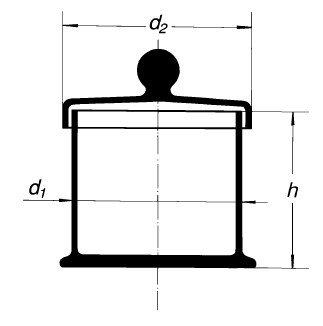 Бюкс с крышкой, 120х120 мм