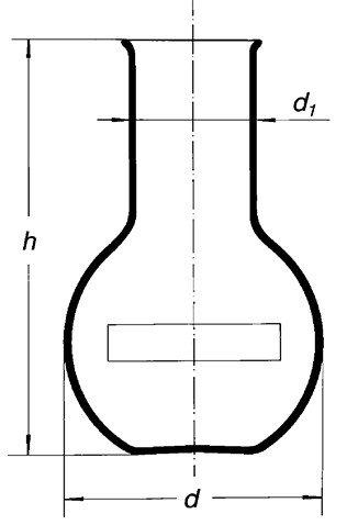 Колба плоскодонная, (шир. горловина) 10000-89