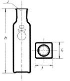 Бутыль прямоугольная, Блэйка, культуральная, 150 мл, формованная горловина
