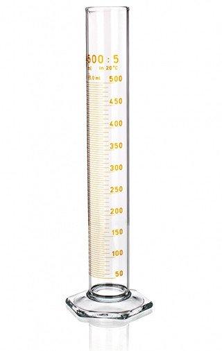 Цилиндр высокий, 50 мл, с носиком, коричневая шкала