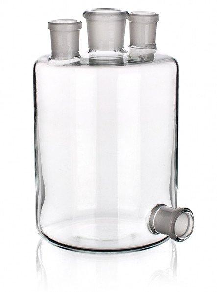Бутыль Вульфа с 3 горловинами, 10000 мл, с нижним выходом
