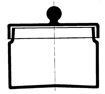 Бюкс с выемкой под крышку и крышкой, 100х70 мм