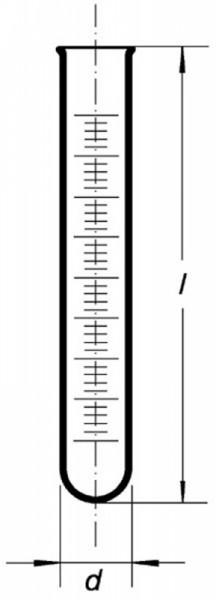 Пробирка мерная с рантом, 50 мл