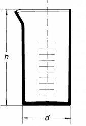 Мензурка без ручки, коническая, 100 мл
