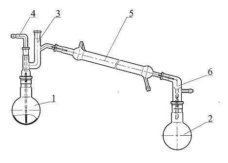 Прибор для перегонки высококипящих жидкостей под вакуумом (500 мл)