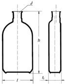 Бутыль Роукса, культуральная, 1000 мл, формованная горловина сбоку
