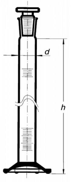 Цилиндр высокий, класс 1, 10 мл, со стеклянной пробкой