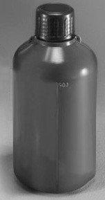 Емкость для общелабораторного применения (бутылка) град.,1000 мл, с узким горлом, цвет серый, п/эт