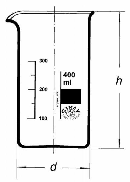 Стакан высокий, В-1-3000 ТС