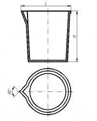 Стакан фторопластовый 100 мл с носиком