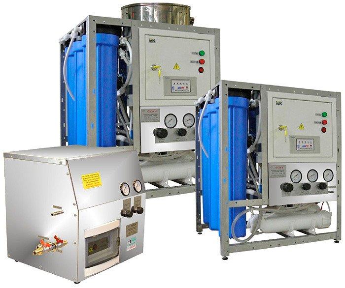 Установки получения воды аналитического качества УПВА (аналог бидистиллятора)