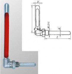 Оправа защитная для технических термометров ОТУ 1, в.ч. 285 мм, н.ч. 63 мм, металлическая, угловая