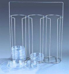 Металлический штатив для чашек Петри, на 54 места