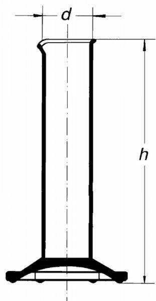 Цилиндр низкий, 50 мл, с носиком, без шкалы