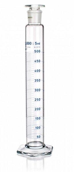 Цилиндр высокий, класс 1, 5 мл, со стеклянной пробкой