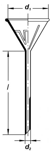 Воронка лабораторная, 55 мм, ребристая