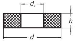 Уплотнительный силиконовый диск c отверстием, 14-5, диаметр 12 мм