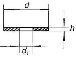 Прокладка PTFE с отверстием, 32-15, диаметр 30 мм